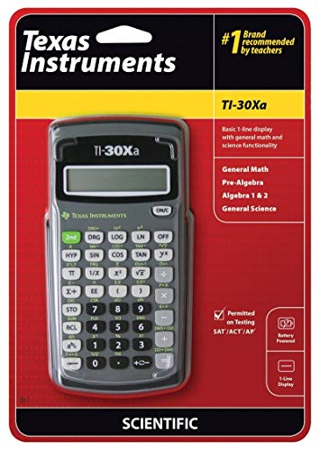 Texas Instruments TI30XA Scientific Calculator - 10 Character(s) - Battery Powered - 6 x 3.1 x 0.8 - Black (Ti30xa Calculator Scientific)