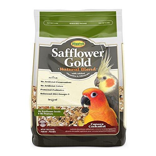 Higgins Safflower Gold Natural Food Mix for Conures & Cockatiels