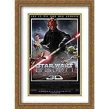 Star Wars: Episode I - The Phantom Menace 3D 28x38 Double Matted Large Large Gold Ornate Framed Movie Poster Art Print