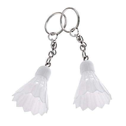 Amazon.com: NATFUR - 1 par de llaveros de bádminton con ...