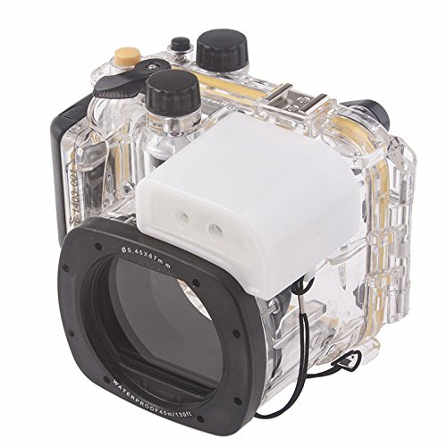 Meikon Underwater Diving Camera Waterproof Housing Cover Case For Canon EOS G15 as WP-DC48 by EACHSHOT