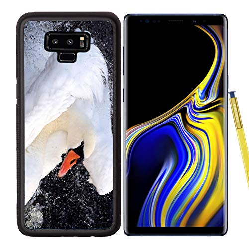 - Luxlady Samsung Galaxy Note 9 Case Aluminum Backplate Bumper Snap Cases Beautiful Swan Dancing in Water Image ID 8323957