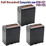 Kastar BP-U66 Battery (3X) for Sony BP-U90 BP-U60 BP-U30 and PXW-FS7/FS5/X180 PMW-100/150/150P/160 PMW-200/300 PMW-EX1/EX1R PMW-EX3/EX3R PMW-EX160 PMW-EX260 PMW-EX280 PMW-F3 PMW-F3K PMW-F3L Camcorders