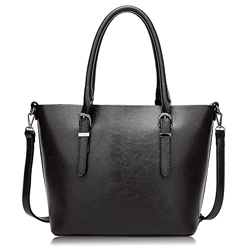 [ALARION Women Top Handle Satchel Handbags Top Purse Messenger Tote Purse Shoulder Bag] (Double Shoulder Tote)