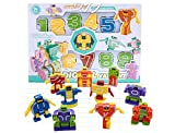 SSJ Kids Children Educational Toys Magic Number Transformers Robots 10 Pieces (New ver.)