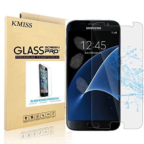 Samsung Galaxy S7 Screen Protector, KMISS [Tempered Glass] with [0.3mm Ultra Thin 9H Hardness 2.5D Round Edge] Lifetime Replacement Warranty (for Galaxy S7)