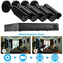 Video Surveillance Security Camera 4CH AHD 720P Surveillance Systems Without Hard Disk Drive(AHDBlack)