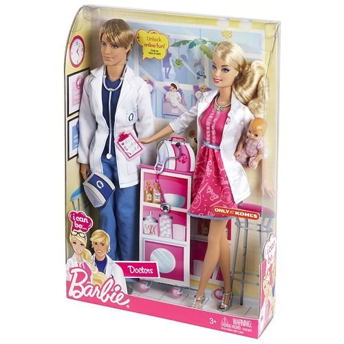 I Can Be...Doctors Barbie & Ken + Baby 2012 NRFB Kohl's Excl