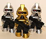 Funko Mystery Minis Vinyl Figure - Science Fiction Series 2 - Gold & 2 Silver CYLON (Battlestar Galactica) Set of 3 Figures
