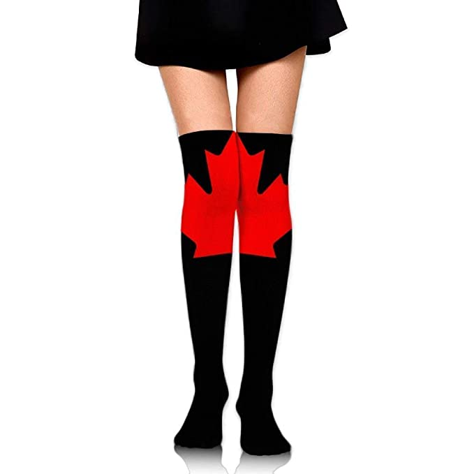 09402de8fc9 DFNRF Canada Maple Leaf Over The Knee Long Cool Socks Tube Thigh-High Cool Sock  Stockings For Girls   Womens 19.68 Inch  Amazon.ca  Clothing   Accessories