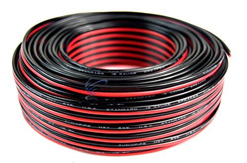 Audiopipe 100 Feet 18 GA Gauge Red Black 2 Conductor Speaker Wire Audio Cable