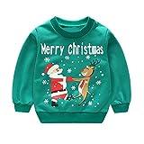 Kobay Christmas Baby Unisex Sweatshirt Toddler Kids Girl Boy Long Sleeve Cartoon Print Pullover Tops for 1-5 Years
