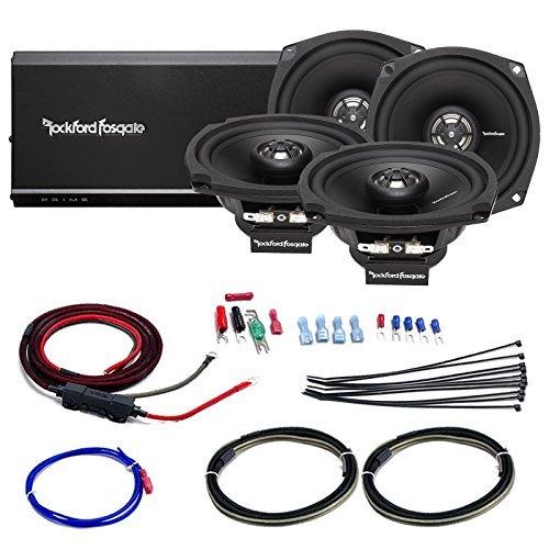 Car / Marine Amp Combo: Rockford Fosgate R1-HD4-9813 Prime 160 Watt 4-Channel Marine Car Motorcycle Amplifier and 4x 5.25
