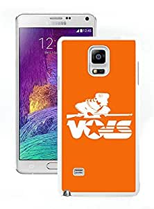 Southeastern Conference SEC Football Tennessee Volunteers White Samsung Galaxy Note 4 Screen Cover Case Fantasy and Luxurious Skin
