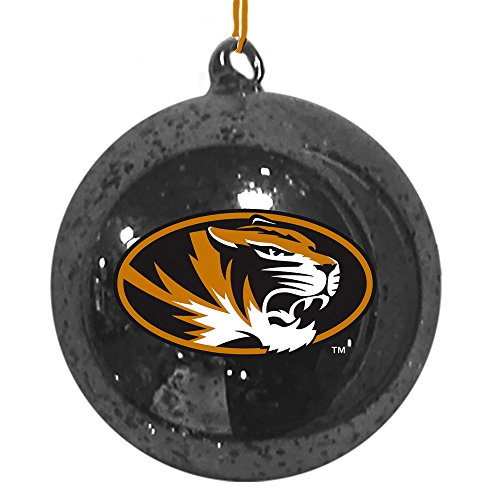 Team Sports America Missouri Tigers Mercury Glass Ball Ornament