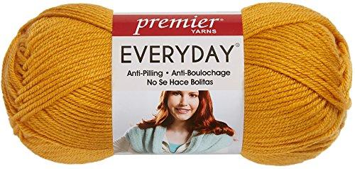 Premier Yarn ED100-28 Deborah Norville Collection 3-Pack Everyday Solid Yarn, Mustard (Yarn Soft Mustard)