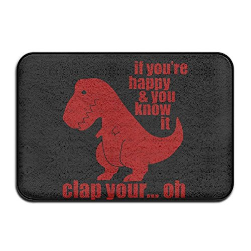 hongwenjy Clap Your Oh Sad T-Rex Door Mats Outdoor ()