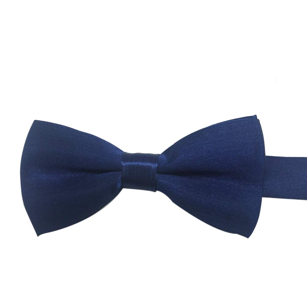 Boys Girls Baby Children Solid Color Satin Bow Ties Bowtie Light Blue