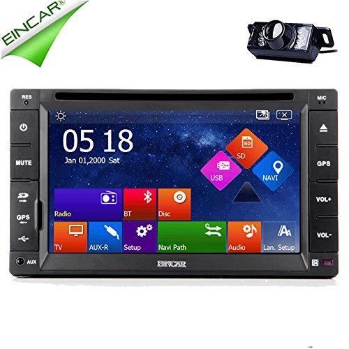 EinCar GPS Capacitive Touchscreen Stereo Autoradio CD Car DVD Player Universal Double 2 Din Video Receiver FM AM MP4 Vehicle Accessory Audio Multimedia Car Radio Sub AMP BT GPS Map - Mb Amp 512