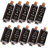 【BCI-19BK/CLR canon互換インク】ブラック+カラー2色セット×5パック(BCI-19BK×5個・BCI-19CLR×5個=計10個)【ICチップ付】