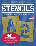 Office Products : Pro Art 6-Inch Painting Stencil Set, Letters and Numbers