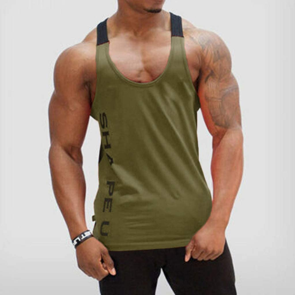 Men/'s Gym Vest Muscle Fitness Shirt Bodybuilding Workout Tank Sport T Shirt