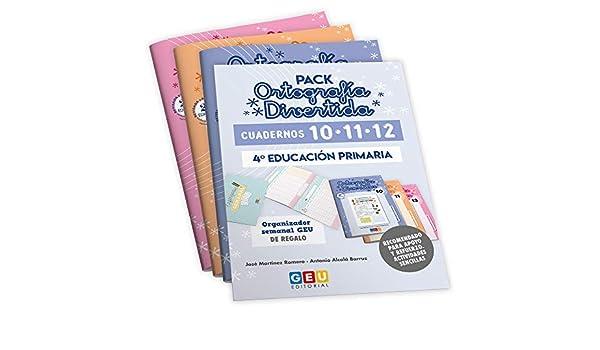 Pack Ortografía Divertida 4º primaria: Cuadernos 10, 11 y 12 ...