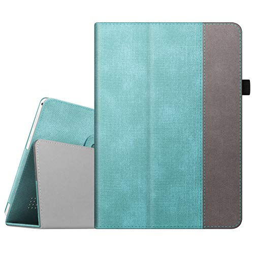 Fintie Case for Dragon Touch 10 inch K10 Tablet, Premium PU Leather Folio Cover Compatible with Lectrus 10, Victbing 10, Hoozo 10, Wecool 10.1, Yuntab 10.1 (K107/K17) Android Tablet (Turquoise)
