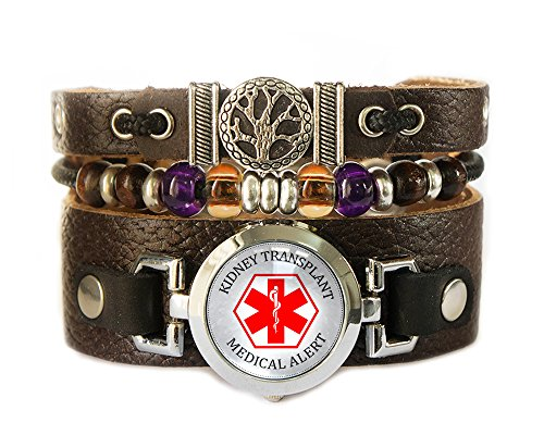 Kidney Transplant - Beaded Medical ID Bracelet with Tree of Life - (Script Id Bracelet)