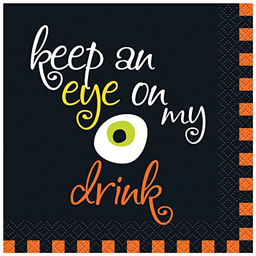 Eye On My Drink Halloween Cocktail Napkins, 16ct (Easy Halloween Drinks For A Party)