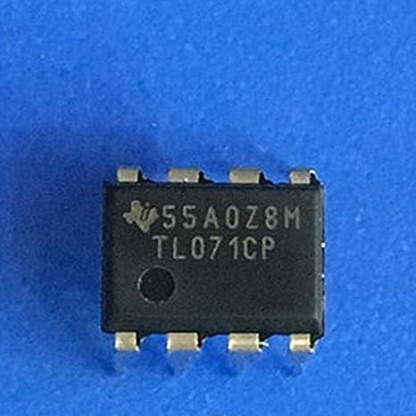 10pcs Tl071 TL071CP DIP-8 bajo nivel de ruido jfet entrada ...