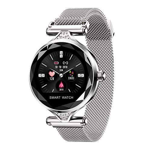ZMJY Intelligente Uhr der Frau, Fitness-Tracker mit Langer Lebensdauer, Geschenke, Schlafüberwachung, Herzfrequenz- und Blutdruck-Tracker, Remote-Kamera