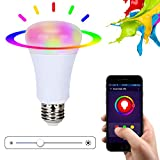 Xenon Wifi Smart LED Light Bulb, Smartphone Controlled Sunrise Wake Up Lights and Dimmable Multicolored Color Changing LED Night Light, Wireless Smartphone Control Bulb