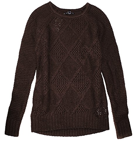 American Eagle Women's Chunky Knit Thick Wool Sweater W-08 (X-Small, ()