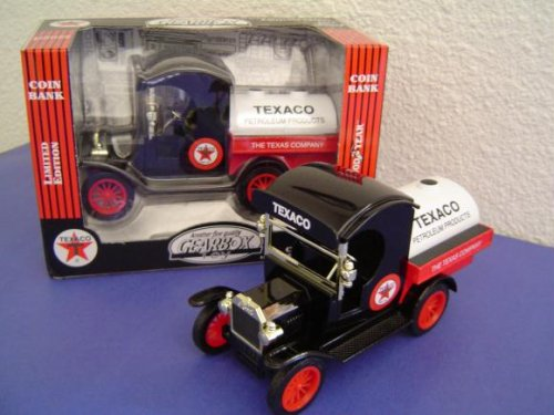 Gearbox Texaco Replica 1912 Ford Oil Tanker Die Cast Bank by Texaco