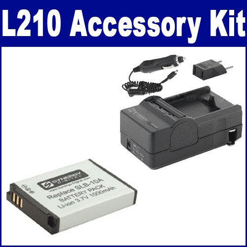 Samsung L210 Digital Camera Accessory Kit includes: SDSLB10A Battery, SDM-1501 Charger
