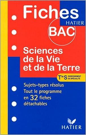 Livre gratuits en ligne Fiches Bac sciences de la vie et de la terre - terminale S, Spécialité pdf, epub