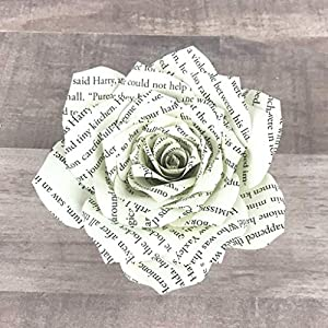 Paper Book Page Rose 7