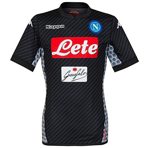 KAPPA Napoli SSC Karbon Authentic Black Jersey 2017/18 (S)