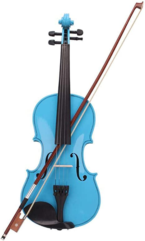 Estuche para violín acústico 4/4 arco resina azul cielo: Amazon.es: Instrumentos musicales