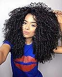 "Maxine 18"" Short Kinky Curly Wigs for Women Black Virgin Human Afro Wigs"