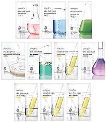 Innisfree Skin Clinic Mask Sheet (Variety Set - 10 Sheets)