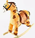 Baybee Unicorn Horse Large Wooden Rocker for Kids (Dark Chocolate)