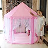 Pink Princess Castle Kids Play Tent Children Playhouse -Indoor and Outdoor Use