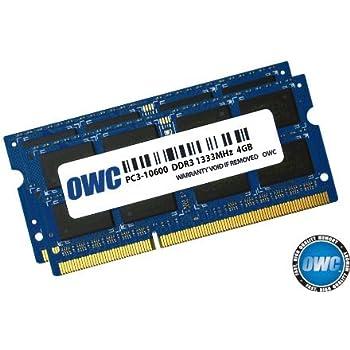 OWC 8.0GB (2x 4GB) P1333MHz 204-Pin DDR3 SO-DIMM PC3-10600 CL9 Memory Upgrade Kit