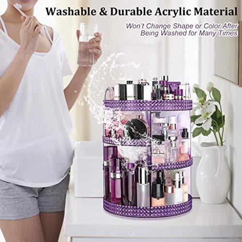 Awenia Makeup Organizer 360-Degree Rotating, Adjustable Makeup Storage, 7 Layers Large Capacity Cosmetic Storage Unit… 6