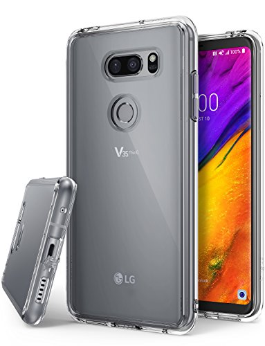Ringke [Fusion] Compatible with LG V35 Case, LG V35 ThinQ Case Crystal Clear Lightweight Upgraded Minimalist Transparent PC Back TPU Bumper [Drop Protection] Raised Bezels Scratch Resistant - Clear