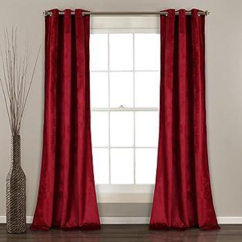 Amazon Com Red Velvet Curtain 52 X 108 Inch Velvet