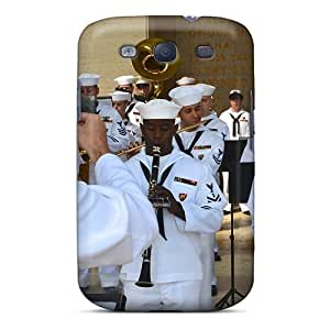 Excellent Design Members Of The U S Naval Forces Europe Band Play During The Memorial Day Ceremon Phone Case For Galaxy S3 Premium Tpu Case