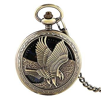 Hollow Design Eagle Tatuaje Mano-Winding Mechanical Pocket Reloj ...